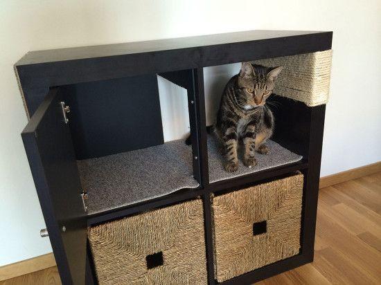 Expedit Tv Kast Zwart.7 Ikea Hacks Die Je Kat Fantastisch Zal Vinden